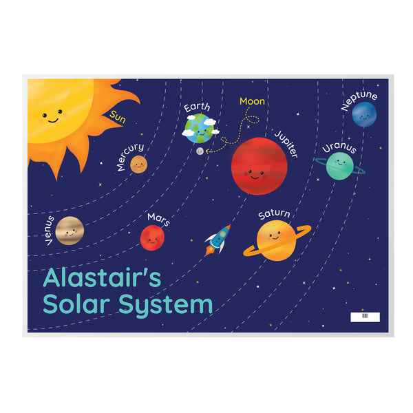 Personalised Solar System Placemat white background