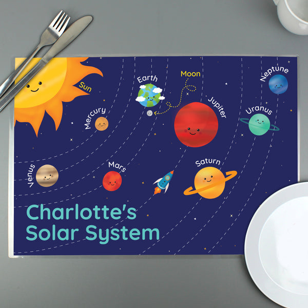 Personalised Solar System Placemat from Sassy Bloom Gifts - alternative view