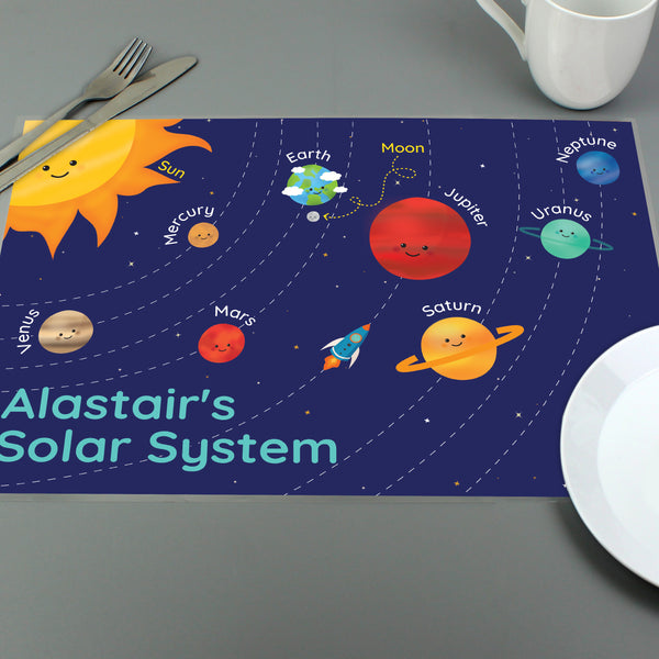 Personalised Solar System Placemat with personalised name