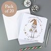 Personalised Scandinavian Christmas Gnome Pack of 20 Cards
