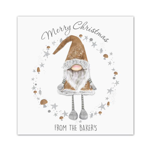 Personalised Scandinavian Christmas Gnome Pack of 20 Cards white background