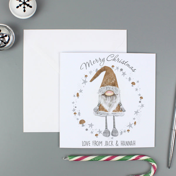 Personalised Scandinavian Christmas Gnome Pack of 20 Cards from Sassy Bloom Gifts - alternative view