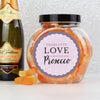Personalised Lilac Lace Prosecco Gummies Jar