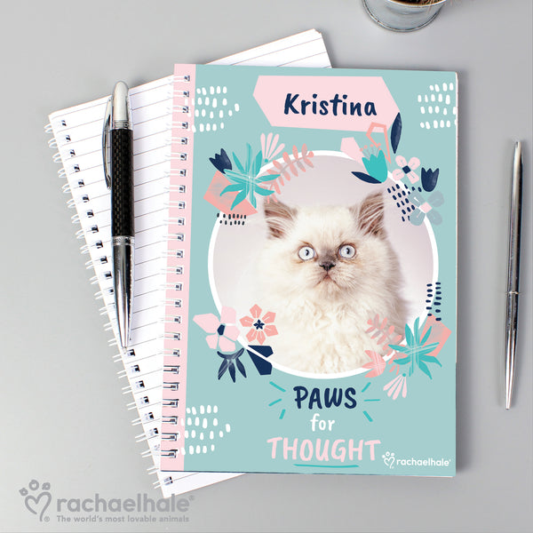 Personalised Rachael Hale 'Paws for Thought' Cat A5 Notebook from Sassy Bloom Gifts - alternative view