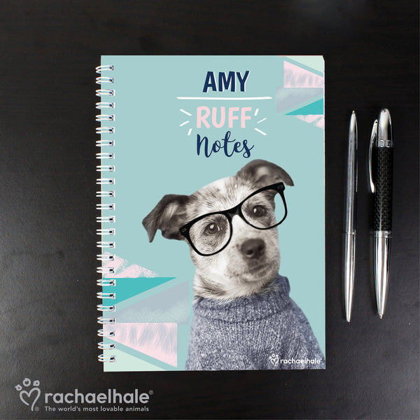 Personalised Rachael Hale 'Ruff Notes' Dog A5 Notebook from Sassy Bloom Gifts - alternative view