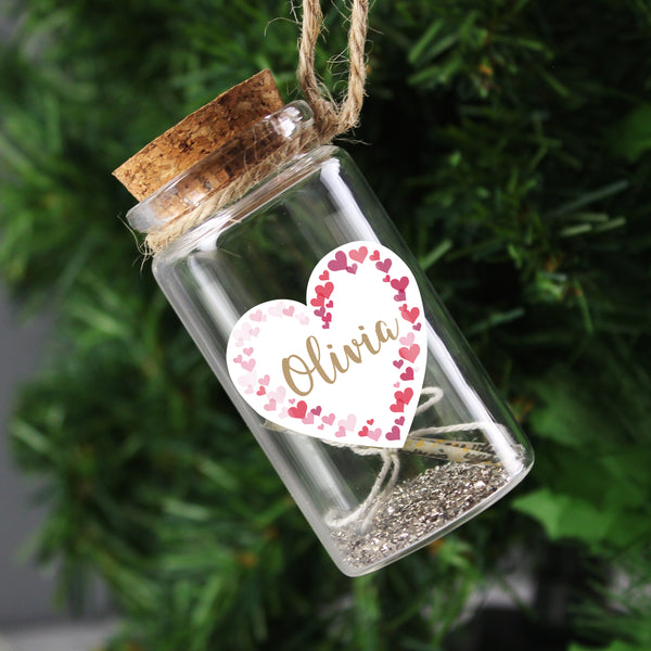 Personalised Valentine's Day Confetti Hearts Message in a Bottle lifestyle image