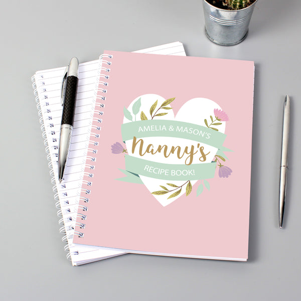 Personalised Floral Mother's Day A5 Notebook lifestyle image