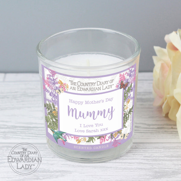Personalised Country Diary Botanical Scented Jar Candle from Sassy Bloom Gifts - alternative view