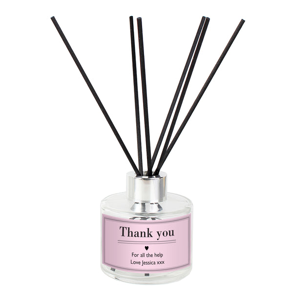 Personalised Classic Pink Reed Diffuser white background