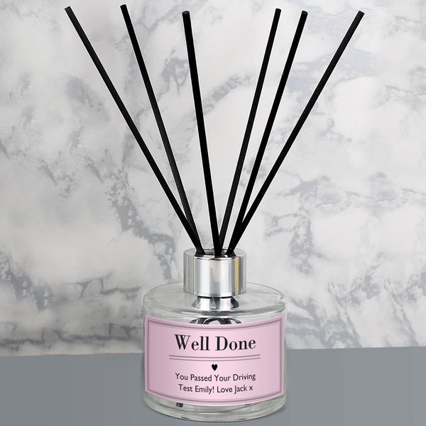 Personalised Classic Pink Reed Diffuser from Sassy Bloom Gifts - alternative view