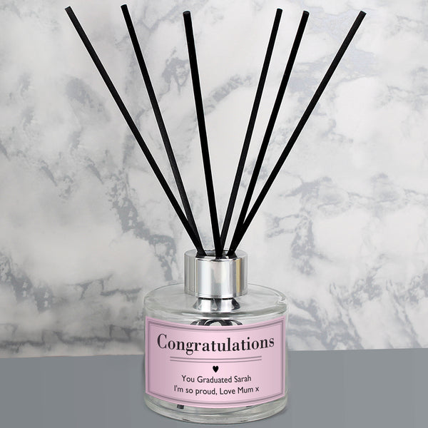 Personalised Classic Pink Reed Diffuser with personalised name