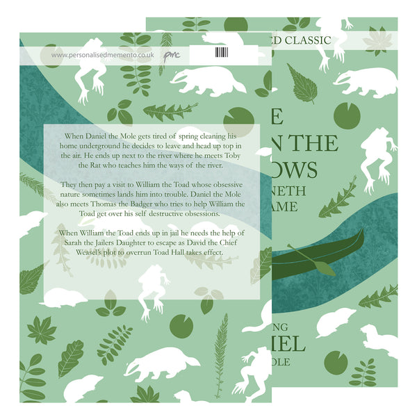 Personalised The Wind in the Willows Novel - 6 Characters with personalised name