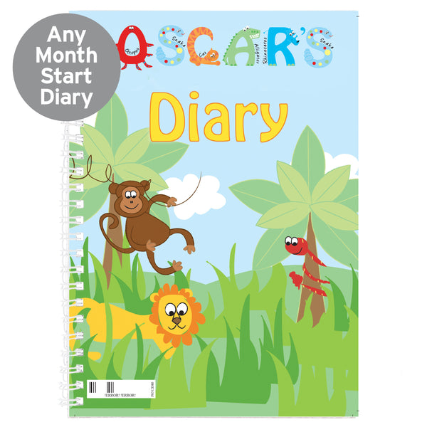Personalised Animal Alphabet - A5 Diary from Sassy Bloom Gifts - alternative view