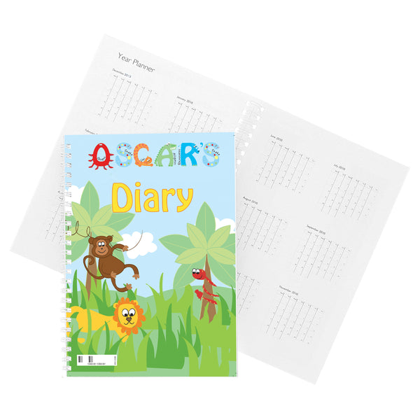 Personalised Animal Alphabet - A5 Diary lifestyle image