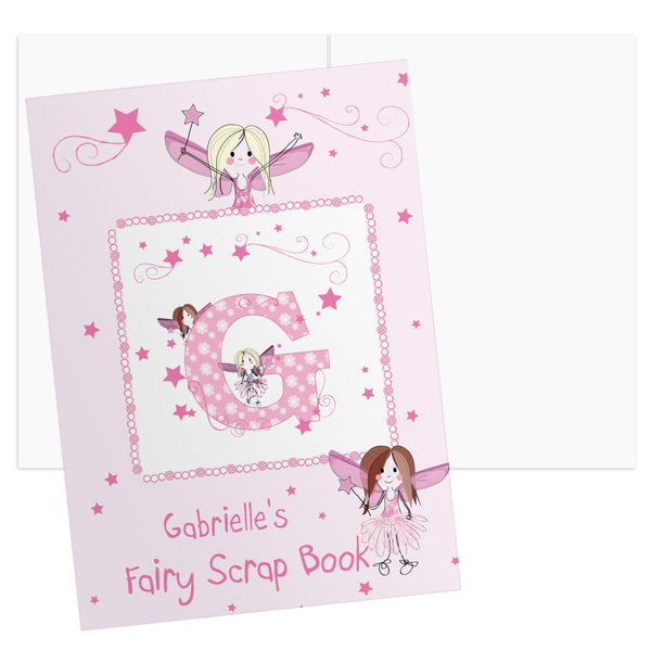Personalised Fairy - A4 Scrapbook white background