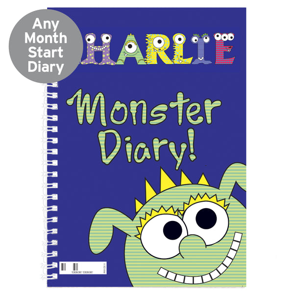 Personalised Little Monster - A5 Diary from Sassy Bloom Gifts - alternative view