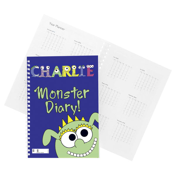 Personalised Little Monster - A5 Diary lifestyle image