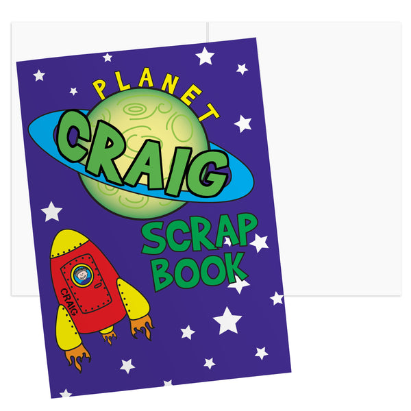 Personalised Space - A4 Scrapbook white background