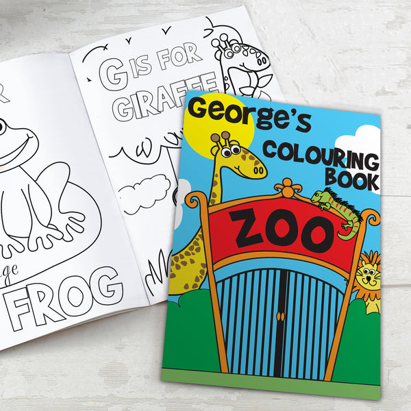 Personalised Zoo Colouring Book