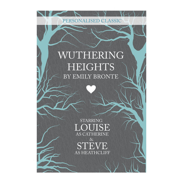 Personalised Wuthering Heights Novel - 2 Characters white background