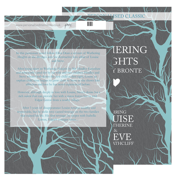 Personalised Wuthering Heights Novel - 2 Characters with personalised name