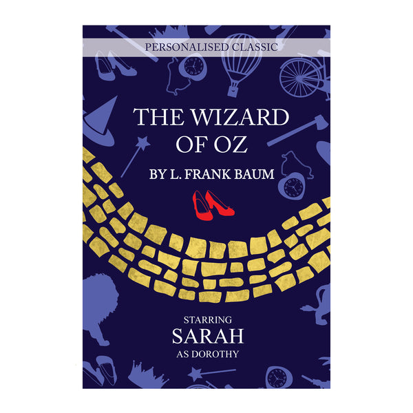 Personalised The Wizard of OZ Novel - 1 Character white background