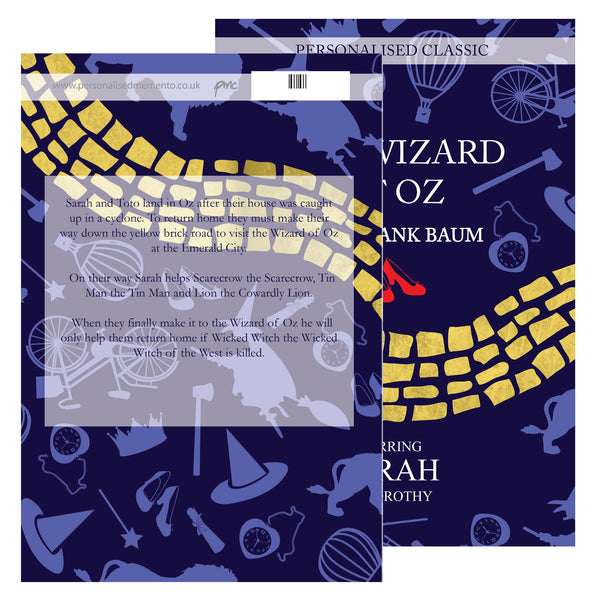 Personalised The Wizard of OZ Novel - 1 Character with personalised name