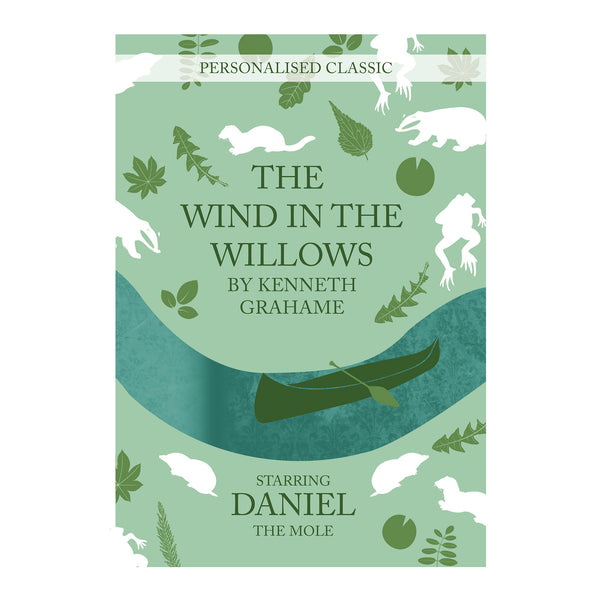 Personalised The Wind in the Willows Novel - 1 Character white background