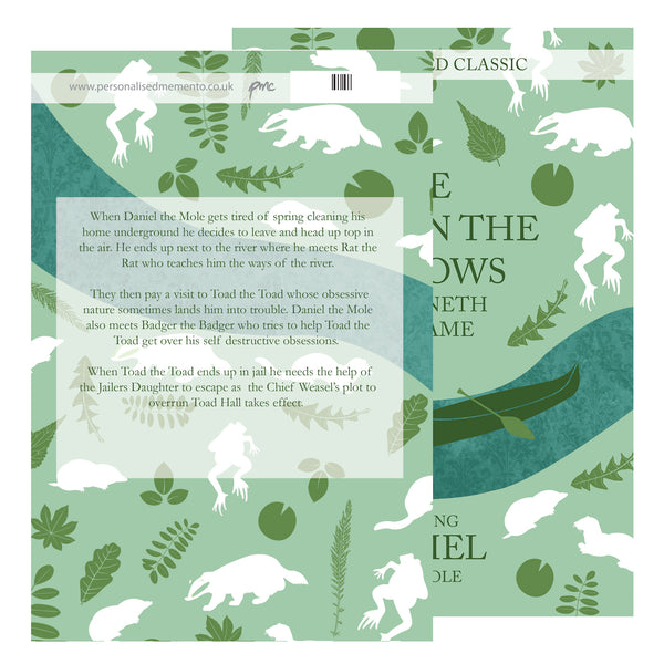 Personalised The Wind in the Willows Novel - 1 Character with personalised name