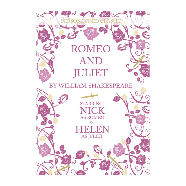 Personalised Romeo and Juliet Novel - 2 Characters white background