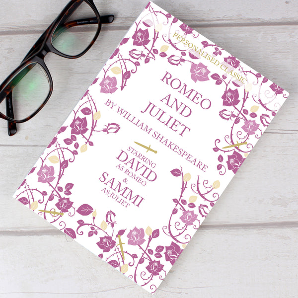 Personalised Romeo and Juliet Novel - 2 Characters from Sassy Bloom Gifts - alternative view