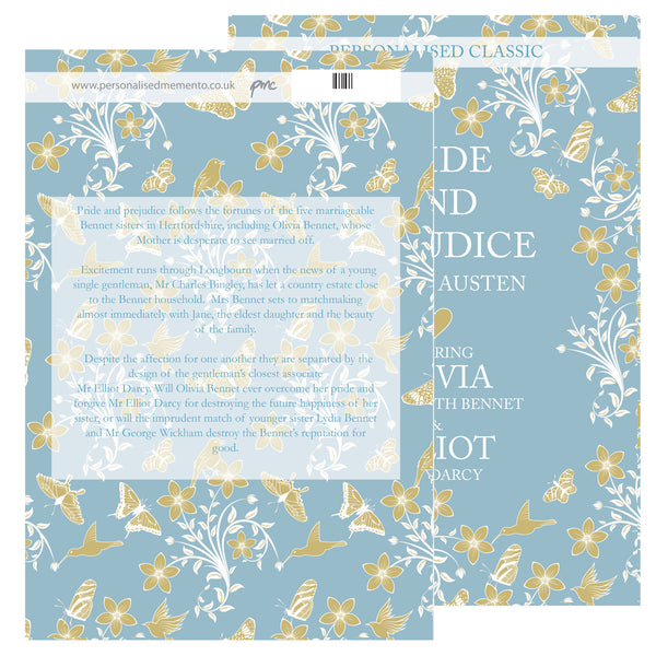 Personalised Pride and Prejudice Novel - 2 Characters with personalised name