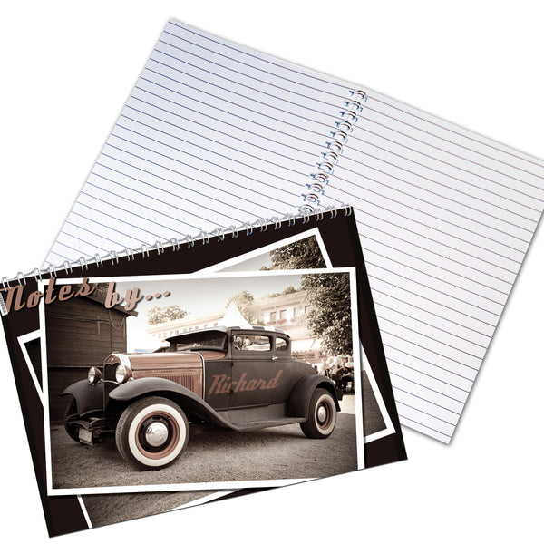 Personalised Classic Car A5 Notebook