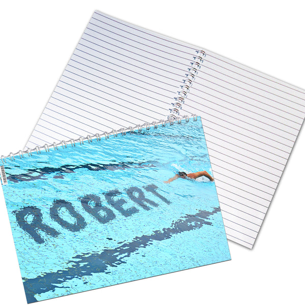 Personalised Swimmer A5 Notebook