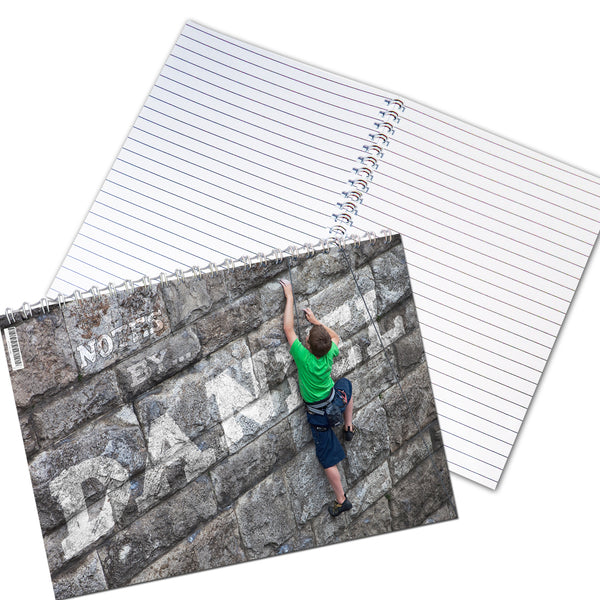 Personalised Climber A5 Notebook