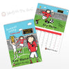 Personalised Football Crazy A4 Wall Calendar