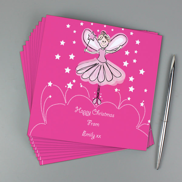 Personalised Christmas Fairy Pack of 20 Invitations from Sassy Bloom Gifts - alternative view