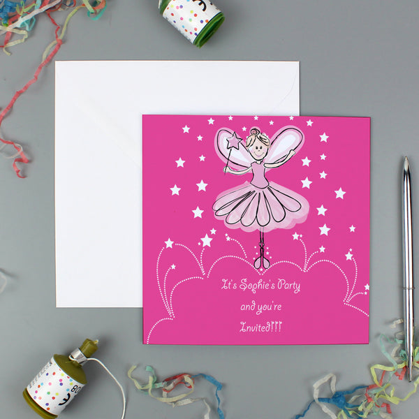 Personalised Christmas Fairy Pack of 20 Invitations lifestyle image