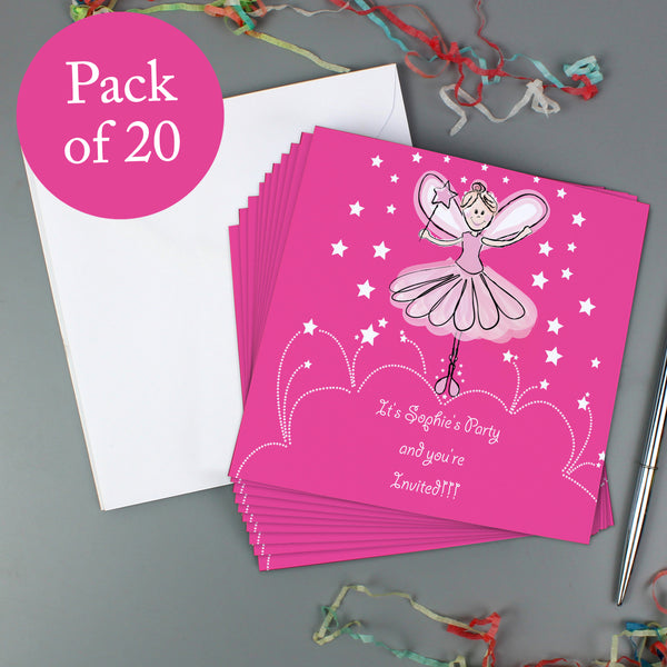 Personalised Christmas Fairy Pack of 20 Invitations