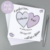 Personalised Perfect Love Wedding Pack of 20 Invitations