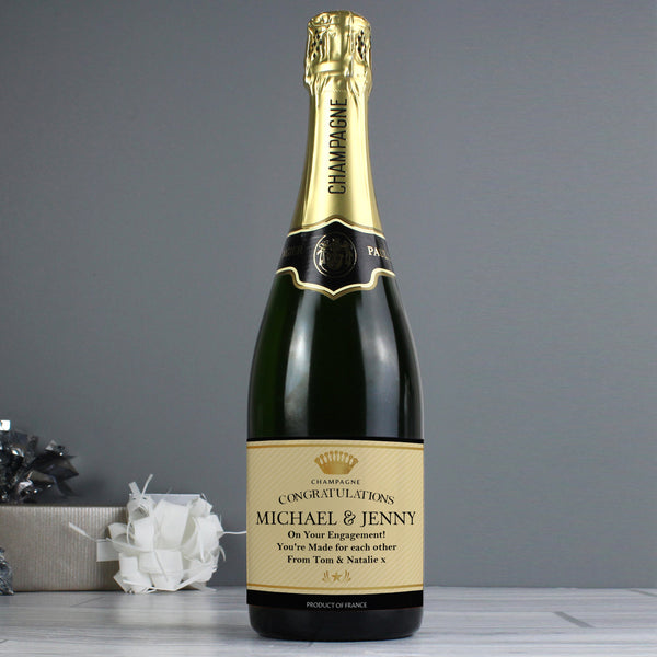 Personalised Crown Champagne from Sassy Bloom Gifts - alternative view