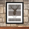 Personalised Highland Stag Black Framed Poster Print