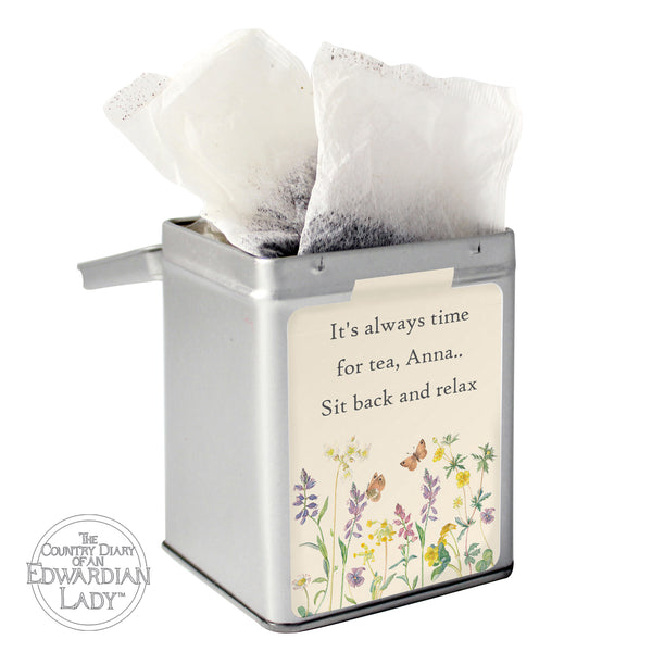 Personalised Country Diary Wild Flowers Tea & Tin from Sassy Bloom Gifts - alternative view