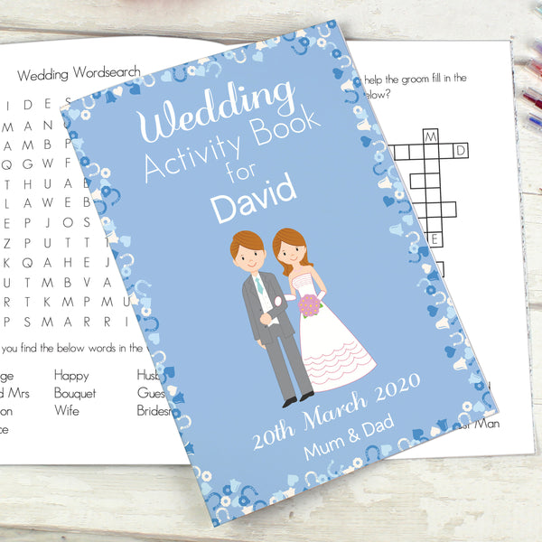 Personalised Wedding Activity Book for Boys from Sassy Bloom Gifts - alternative view