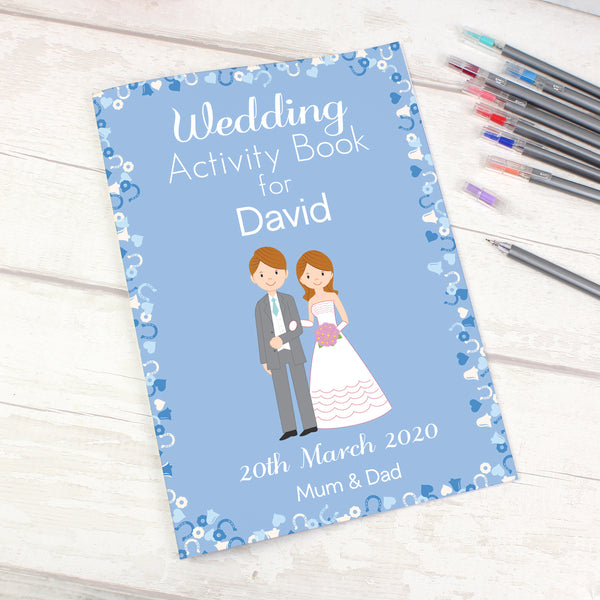 Personalised Wedding Activity Book for Boys with personalised name