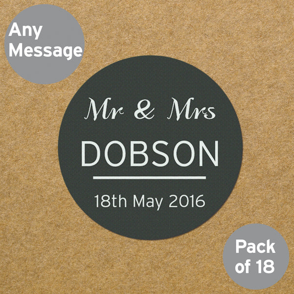 Personalised Classic Stickers white background