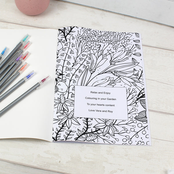Personalised Gardening Colouring Book from Sassy Bloom Gifts - alternative view