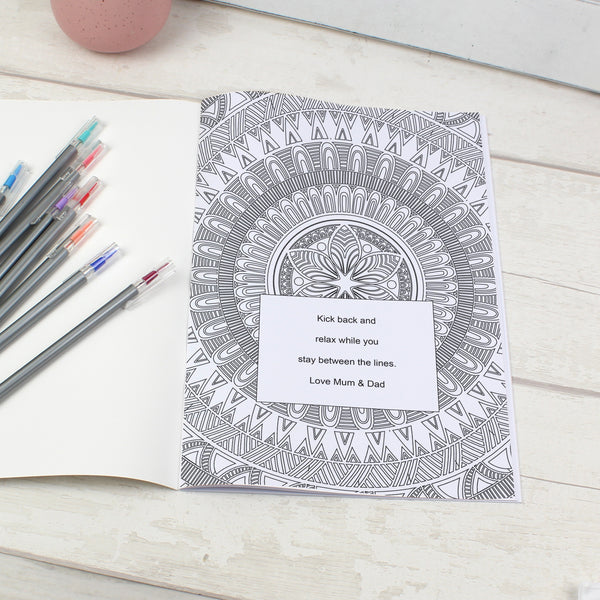 Personalised Mandala Colouring Book lifestyle image