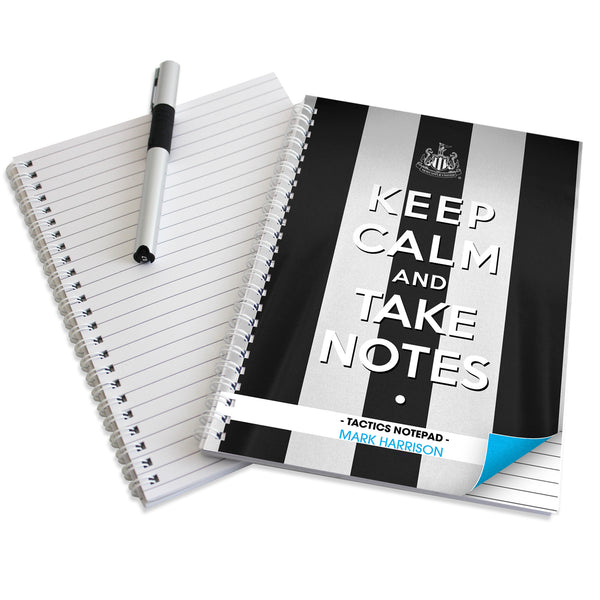 Personalised Newcastle United Keep Calm A4 Notebook with personalised name