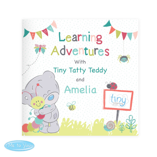Personalised Tiny Tatty Teddy Learning Adventure Book white background